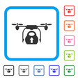 load cargo drone framed icon vector image vector image