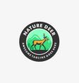 logo nature deer vintage badge vector image vector image