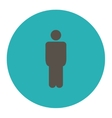 Man flat grey and cyan colors round button vector image vector image