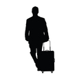 man with travel baggage vector image vector image