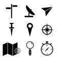 map icon set vector image vector image