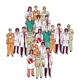Medical symbol group doctors isolated color vector image