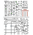 mega collection of road junctions street road vector image vector image