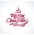 Merry christmas hand drawn lettering vector image vector image