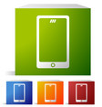 mobile smart phone icons set of 4 colors to match vector image