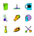mopping icons set cartoon style vector image vector image