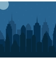 Night cityscape vector image vector image
