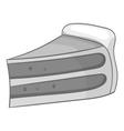 Piece of cake icon black monochrome style vector image vector image