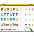 preschool pattern activity vector image vector image