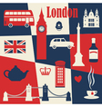 Retro style poster with London vector image vector image