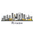 riyadh saudi arabia city skyline with color vector image vector image