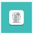 round button for building smart city technology vector image