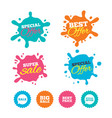sale icons special offer speech bubbles symbols vector image vector image