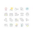 set line icons business in agriculture vector image vector image