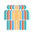 seven human sign people symbol vector image vector image