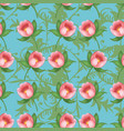 shabby chic vintage tulips vintage seamless vector image