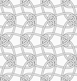Slim gray vertical interlocking ornament vector image vector image