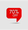 special offer sale 70 off sale red tag discount vector image