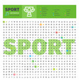 sport thematic collection line icons vector image