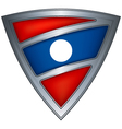 steel shield with flag laos vector image