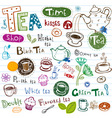 Tea doodles vector | Price: 1 Credit (USD $1)