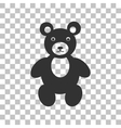Teddy bear sign Dark gray icon on vector image vector image