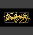 thanksgiving typography for greeting cards and vector image vector image