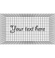 vintage 3d template with grid on dark background vector image