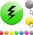 warning glossy button vector image vector image