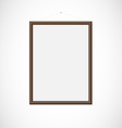 Wood frame vector image