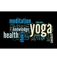 YOGA Word cloud concept vector image