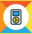 audio colorful outline symbol premium quality vector image