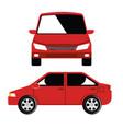 car vehicle flont icon vector image