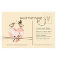 Cute wedding card invitation with floral heart vector image