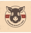 Pig head labels vector image