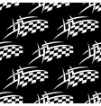 Seamless pattern of a black and white checkered vector image