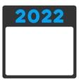 2022 Calendar Icon vector image vector image