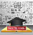 3d book educationback to school vector image vector image