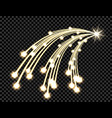 abstract golden wave design element with shine and vector image vector image