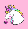 amazing and beautiful unicorn vector image vector image