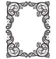 Antique frame engraving