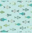aqua abstract fish seamless pattern vector image vector image