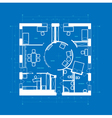 Blueprint abstract vector image vector image