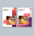 brochure design a4 cover template for vector image