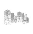 building and city vector image vector image