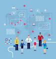 business team infographic group of creative vector image