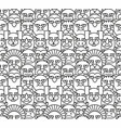 Cartoon animals pattern seamless