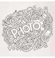 cartoon cute doodles hand drawn photo inscription vector image