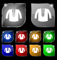 casual jacket icon sign Set of ten colorful vector image vector image