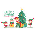 christmas characters in masks poster cartoon vector image vector image